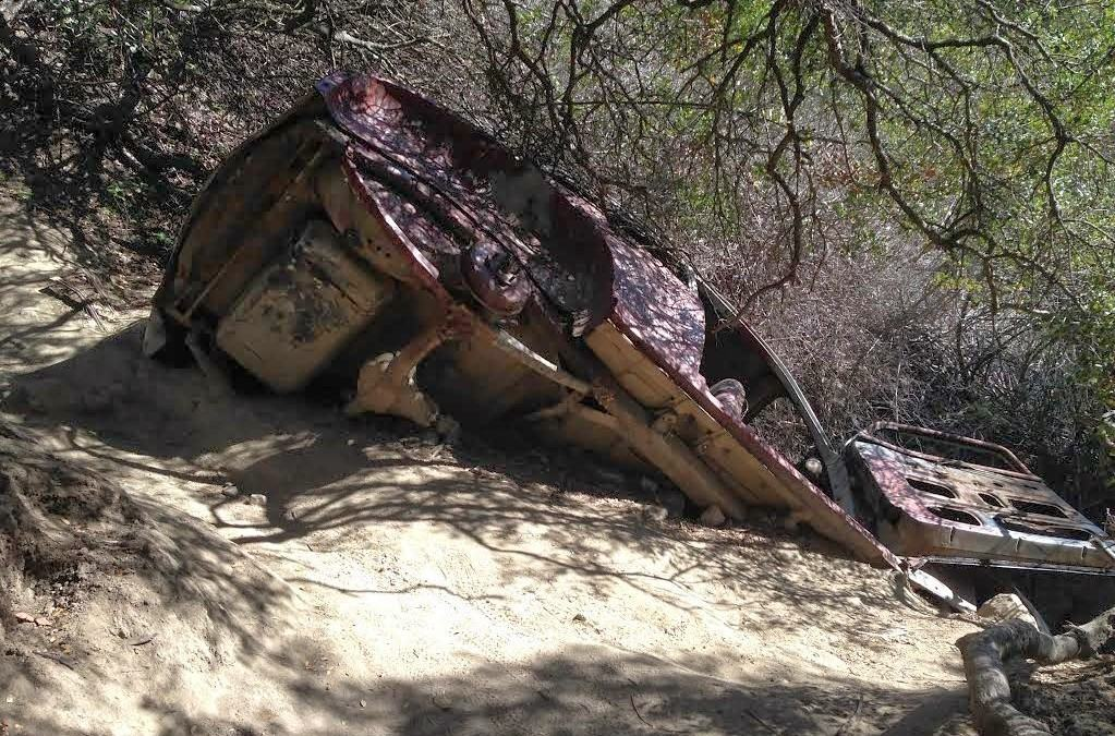 Car Wreck – Aliso Viejo Canyon Trail – Laguna Beach Hiking Trails
