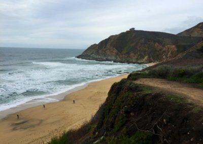 gray whale cove state beach, half moon bay hike, san francisco, half moon bay, northern california beach hike, sean tiner, ashley tiner, go hike it, best beach hikes in california