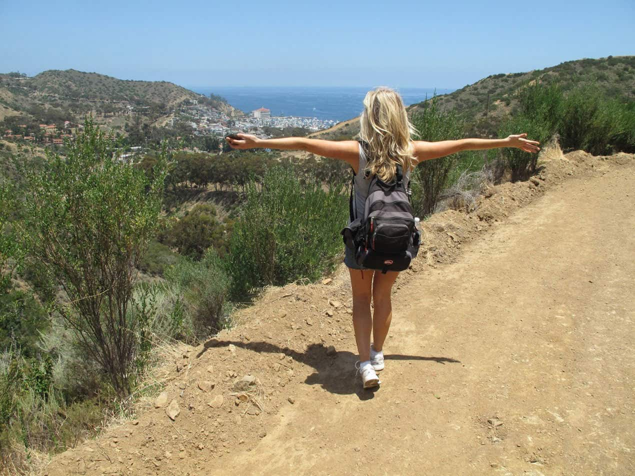 best catalina hiking trails   wrigley monument trail