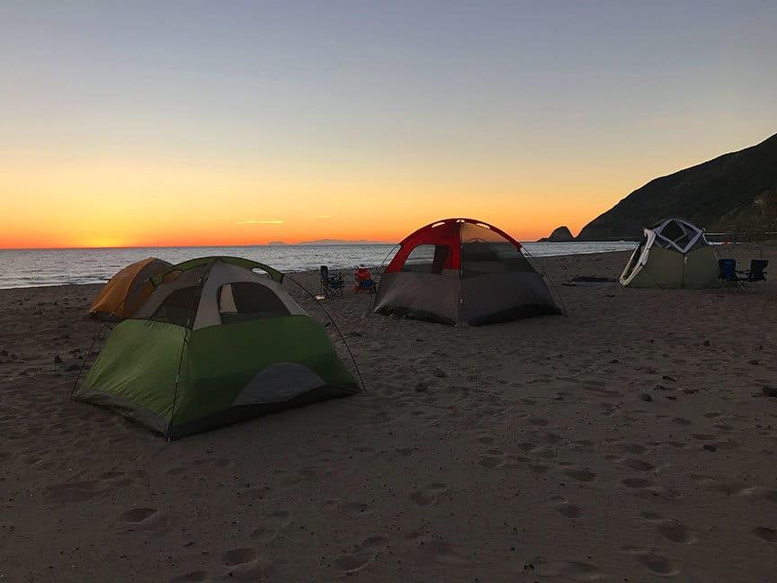 Malibu Camping Point Mugu Los Angeles Hiking