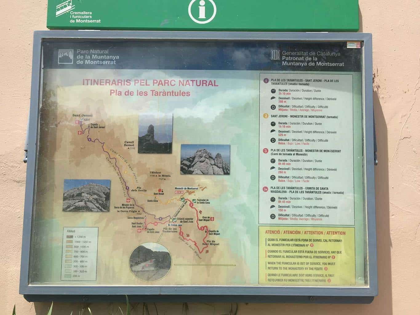 Map Of Spain Near Barcelona.Montserrat Spain Hiking Trails Near Barcelona 30 Go Hike It